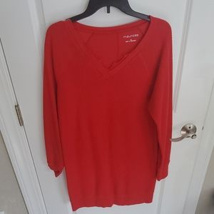 Maurices red sweater dress